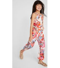 long jumpsuit with straps - red - 9/10