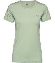 nora tee t-shirts & tops short-sleeved grön kari traa