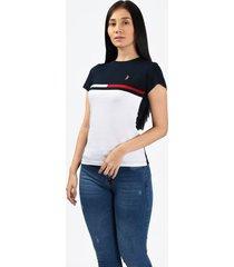 camiseta battles 2 azul marino para mujer
