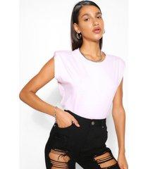 t-shirt met schouderpads, roze