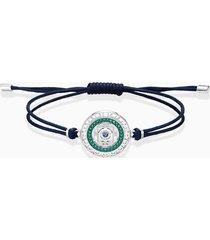braccialetto sand, azzurro, acciaio inossidabile