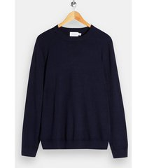 mens navy twist knitted sweater