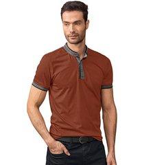 masculino exterior camiseta marrón leonisa m2667s