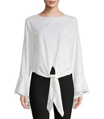 tie-up bell-sleeve blouse