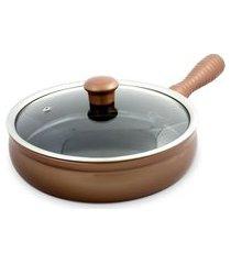 frigideira 24cm 2 litros em cerâmica cobre ceraflame