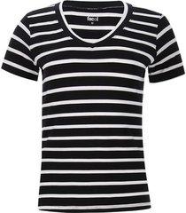 camiseta mujer a rayas color negro, talla m