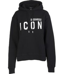 dsquared2 woman black icon hoodie