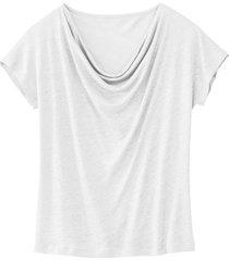 shirt met watervalhals, natuurwit 40/42