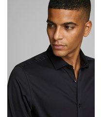 jack & jones overhemd 12097662 parma black noos - zwart
