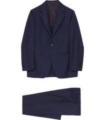 notch lapel check loro piana wool silk blend suit