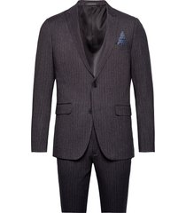 pin striped suit pak grijs lindbergh