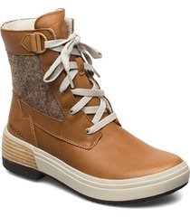 haven mid lace wp tobacco shoes boots ankle boots ankle boots flat heel brun merrell