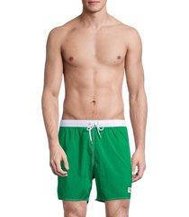 emporio armani men's contrast boxer swim trunks - green - size s