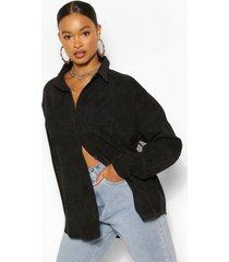 oversized corduroy blouse, zwart