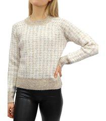 rd style women's melange short sweater - grey - size m