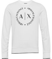 man jersey sweatshirt sweat-shirt trui wit armani exchange