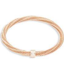 18k rose gold, diamond & ruby bracelet
