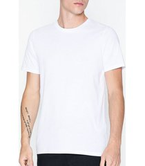 jack & jones jjeorganic basic tee ss o-neck noos t-shirts & linnen vit