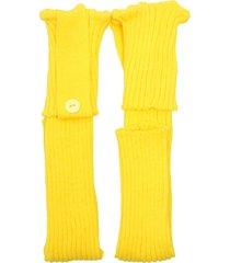 polaina ayron fitness max lã com botão amarelo