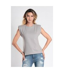 t-shirt bl0001 muscle tee com ombreira traymon cinza