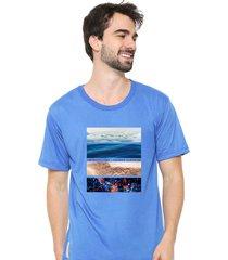 camiseta sandro clothing life azul - azul - masculino - dafiti