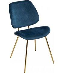 krzesło welwetowe rabiot złote nóżki
