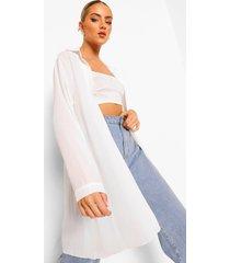 oversized floaty blouse, ivory