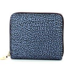 borbonese womens blue wallet
