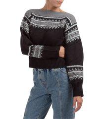 maglione maglia donna fair isle