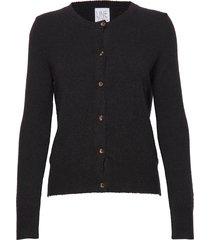 ryan wool gebreide trui cardigan zwart line of oslo