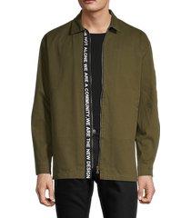 the new designers men's curtis tape-trim jacket - beige - size l
