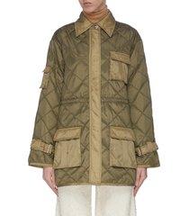 oversized ribstop quilt jacket