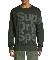 logo cotton blend sweatshirt