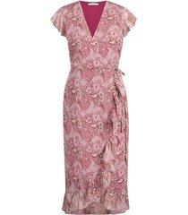 freebird jurk rosy midi burgundy flower