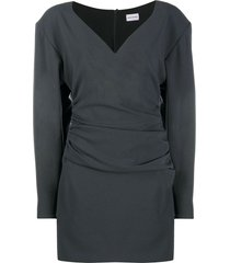 magda butrym statement shoulder wool shift dress - grey