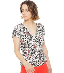 blusa io mc multicolor - calce regular