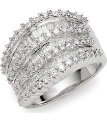 effy women's 14k gold & diamond statement ring/size 7 - size 7