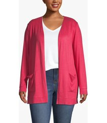 lane bryant women's cozy touch open-front cardigan 26/28 american beauty