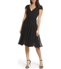 women's dress the population corey chiffon fit & flare cocktail dress