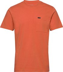 heavy jersey pkt tee t-shirts short-sleeved orange lee jeans