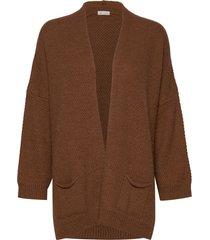 charlotte stickad tröja cardigan brun gai+lisva