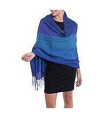 alpaca blend shawl, 'serene glory' (peru)