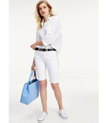 tommy hilfiger women's skinny fit bermuda short white - 26