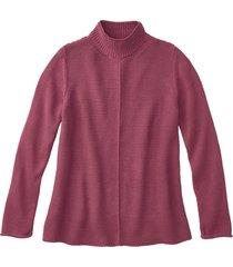 pullover met staande kraag, bessenrood 36