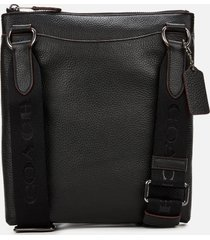 coach men's metropolitan soft small messenger bag - black