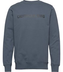 institutional logo sweatshirt sweat-shirt trui blauw calvin klein jeans