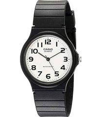 reloj analógico hombre casio mq-24-7b2 - negro con blanco