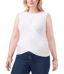 1.state plus size cross-front top