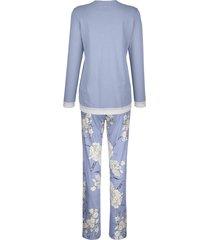 pyjamas ringella rökblå::vit::aubergine