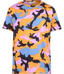 valentino camouflage pattern t-shirt